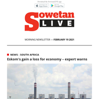 Eskom's gain a loss for economy – expert warns | Electricity price hike a blow to Soweto residents