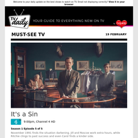 Don't miss: It's a Sin at 9:00pm on Channel 4 HD