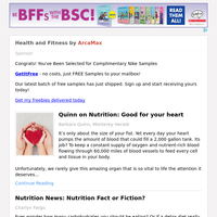 Health and Fitness for Saturday February 20, 2021
