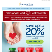 Support your Heart+SAVE up to 20%