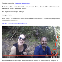 Husband Offers His Wife To African Tribesmen To Find Elongation Secret