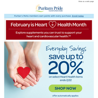 Look quick! Up to 20% off Heart Essentials