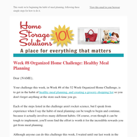 Healthy Meal Planning: Week #8 Organized Home Challenge
