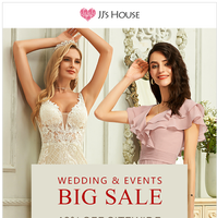 🔥 WEDDING & EVENTS BIG SALE 🔥
