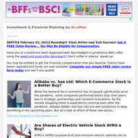 Investment & Financial Planning for Monday February 22, 2021