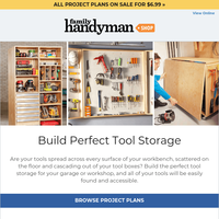 Now you can build perfect tool storage!