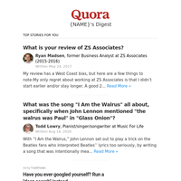 What is your review of ZS Associates?