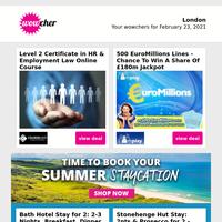 HR & Employment Law Online Course £9 | 500 EuroMillions Lines & Raffle Tkts £9 | Beauty Bundle Pamper Kit £9.99 | Monty Bojangles Truffle Trunk £25 | Ultimate Photography Bundle Course £9