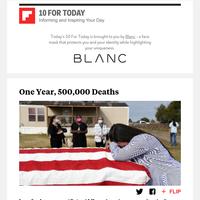 One Year, 500,000 Deaths