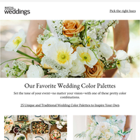 25 Unique Wedding Color Palettes to Inspire Your Own