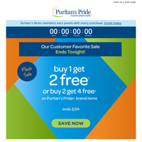 LAST Day: Buy 1, get TWO FREE
