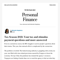 Personal Finance: Tax Season 2021: Your tax and stimulus payment questions and more answered