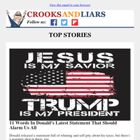 Crooks and Liars Daily Update For 02/24/2021