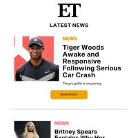Tiger Woods awake and responsive following car crash