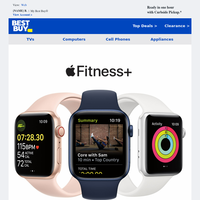 Get 6 free months of Apple Fitness+ with your new Apple Watch.