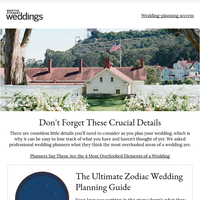 The 4 Most Overlooked Elements of a Wedding