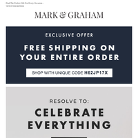 Enjoy Free Shipping On All Monogrammed Gifts at Mark & Graham