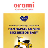 Dapatkan Mini Bike Ride On baby dari Bebelac !