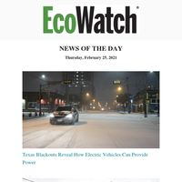 Electric Cars Powered Texas, Annapolis Sues Oil & Gas, Sanders Downvotes Biden's USDA Pick, Keep Trees Planted, Equity in Disaster, Wolf Hunt Quota