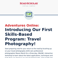 Coming in March & May: a Three-Day ONLINE Travel Photography Workshop