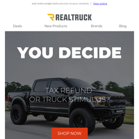 Tax refund or truck stimulus?