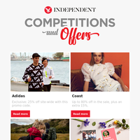 Exclusive Mother's Day savings from Funky Pigeon, plus deals for Adidas and Coast
