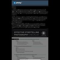 Free Photography Storytelling Checklist [PRINTABLE]