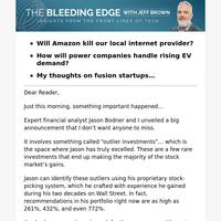 Will Amazon Kill Our Local Internet Provider?