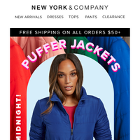 Puffer Jackets, Pants and More.  Hurry These Deals End Tonight!