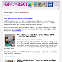 Health and Fitness for Saturday February 27, 2021