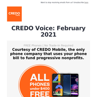 CREDO Voice: Don't compromise your values for a great network.