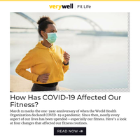 One Year Later: How Has COVID-19 Affected Our Fitness?