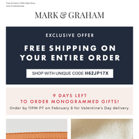 Last Chance for FREE Shipping + 3 Monogram Styles We Love