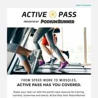Power Your Next Run with Active Pass! 🏃