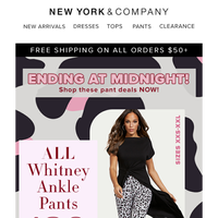 Last Chance to Grab $20 Pants. Ends at Midnight
