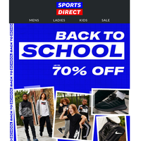 Up To 70% Off Back To School Essentials