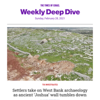 ToI's weekly deep dive: Ancient fences don't make good neighbors * Tar saturates Israeli coastline * Interview with 'kingmaker' Bennett * PODCAS T: Author Micah Goodman