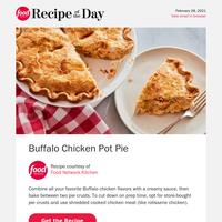 Comforting Buffalo Chicken Pot Pie