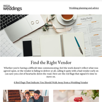 6 Red Flags That Indicate You Should Walk Away from a Wedding Vendor