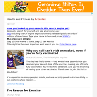 Health and Fitness for Monday March 1, 2021