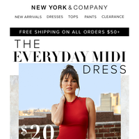 Limited Time Only- $20 Everyday Midi Dress!