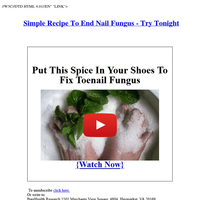 Simple Recipe To End Nail Fungus - Try Tonight