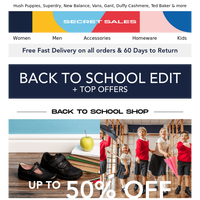 Back to school essentials + Great offers with up to 95% off