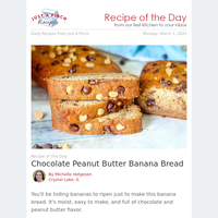 Chocolate Peanut Butter Banana Bread You're Going to Love
