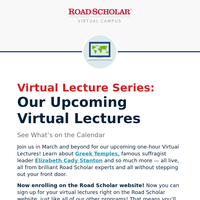 Upcoming LIVE Virtual Lectures: Travel Photography + Women's History + More