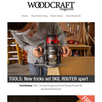 Woodcraft Magazine Looks at New SKIL Router