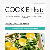 New: What to Cook This March
