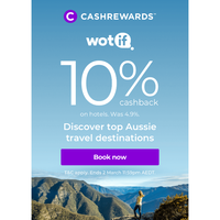 What's trending? 10% cashback at Wotif ☀️