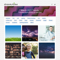 March Stock Photo Trends
