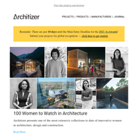 100 women to watch in architecture